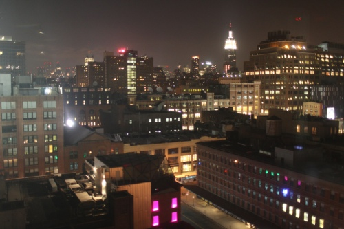 view from the Standard Hotel looking uptown.